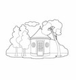 drawing a hut vector image vector image