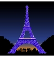Eiffel Tower at Night vector image vector image