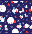 festive bright seamless christmas pattern of vector image vector image