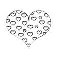 figure hearts design inside big heart decoration vector image vector image