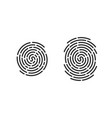 fingerprint finger print logo line icons vector image vector image