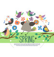 flat springtime template vector image vector image