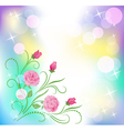 Floral background with boke vector image vector image