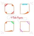 Four Note Papers-10 vector image vector image