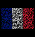 france flag mosaic of chain icons vector image