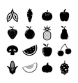 Fruit and Vegetable Icon vector image vector image