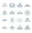 future computer logo icons set simple style vector image vector image