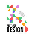 geometric design with shapes in the style of vector image vector image