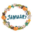 hand drawing lettering month january in a vector image vector image