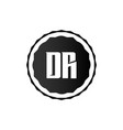 initial letter logo dr template design vector image