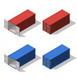 isometric set of opened and closed shipping vector image