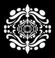 mandala in black and white vector image vector image