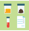 Medical tests set vector image