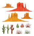 mexican desert landscape cartoon elements vector image vector image
