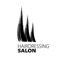 modern creative logo for hairdressers vector image vector image