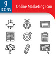 online market icon vector image vector image