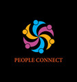 people business logoconnecting peoplehappy people vector image vector image