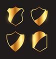 premium golden badges emblem and label design vector image vector image
