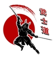Samurai card template vector image vector image