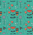 seamless forest pattern with cute color vector image vector image