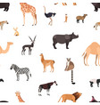 seamless pattern with wild african animals on vector image vector image
