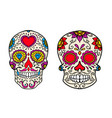 set vintage mexican sugar skull isolated on vector image vector image