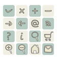 Set with doodle hand drawn icons vector image vector image