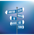 Signpost with motivational words vector image