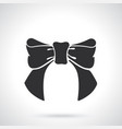 silhouette bow-knot ribbon vector image vector image