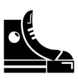 sneakers hipster shoes icon simple style vector image vector image