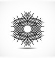 snowflake icon vector image vector image