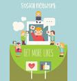 social media poster vector image vector image
