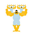 sports strong family dynasty retro strongman and vector image vector image