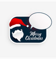 stylish christmas santa claus with speech bubble vector image