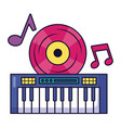 synthesizer vinyl music festival on white vector image vector image