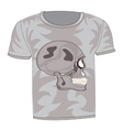 T-shirt with drawing of the skull vector image vector image