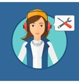 Technical support operator vector image vector image