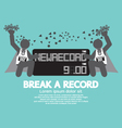 The Athletes With Break A Record Banner Ill vector image
