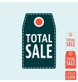Total sale label icon vector image