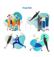 trust fall collection vector image
