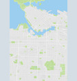 vancouver colored map vector image