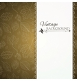 Vintage gold background with tree leaves vector image vector image