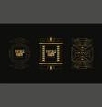 vintage party logo templates set art deco style vector image vector image