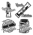 Vintage sports nutrution emblems vector image vector image