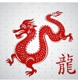 year of dragon vector image vector image