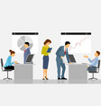 people working in the office vector image