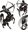 Zodiac Signs - sagittarius set vector image