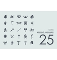 Set of knight and war icons vector image