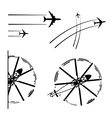 Transport aircrafts vector image