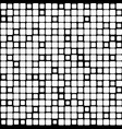 background of black white mosaic vector image
